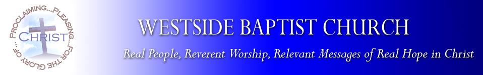 Welcome to Westside Baptist Church of Jenison, MI